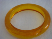 1930's - 1940's Clear Yellow Bakelite Bangle  (SOLD)